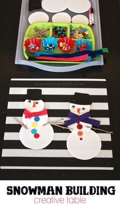 Snowman Building Creative Table | Mama.Papa.Bubba.