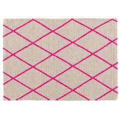 Hay & Scholten & Baijings' Hot Pink Dot Carpet... smaller size perfect for a pop of color in the bathroom?