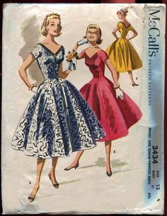 McCall's 3434: gorgeous dress, crazy seaming