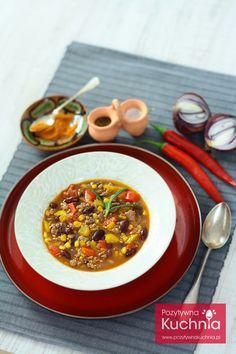 #Zupa meksykańska - aromatyczna, rozgrzewająca zupa z #fasola i #papryka na jesienne i zimowe wieczory  http://pozytywnakuchnia.pl/zupa-meksykanska/  #przepis #kuchnia