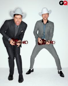 Jimmy Fallon and Justin Timberlake in GQ wearing Tom Ford and Thom Browne.