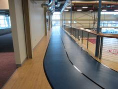 An elevated running track using Omnisports 8.3.