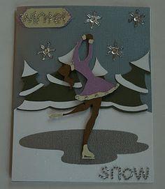 Winter card made using Create a Critter, Winter Frolic, and Winter Woodland Cricut Cartridges
