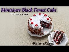 Miniature Black Forest Cake - Polymer Clay Tutorial - YouTube