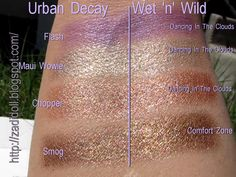 Eyeshadow Dupes! Great cheaper Alternatives! Maui wowie is my ALL TIME favorite Urban Decay color... So glad I found this dupe...