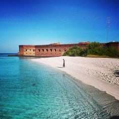 Fort Jefferson in Dry Tortugas National Park—originally built to guard the Gulf Coast—is now a gorgeous spot to view #Florida marine life. Photo courtesy of eachapman4 on Instagram.