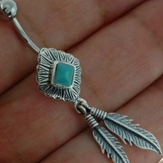 Native American Belly Button Navel Ring w Turquoise. I've been looking for a unique on and this is SERIOUSLY it