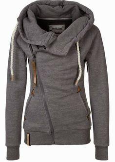 Naketano Side Zip Gray Hoodie. #warmth