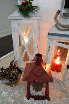 lantern idea, christma decor, christma time, mantel decor, decor lantern, christma mantel, christmas mantels