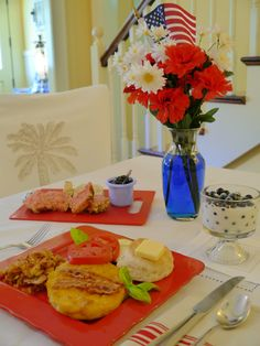 A patriotic Savannah GA holiday breakfast at Green Palm Inn in the historic district. #toppick #bedandbreakfast | © Green Palm Inn / Sandy Traub