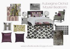 Cultivate Create: Aubergine Orchid Digital Design Board