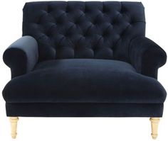 cobble hill prince tufted chair and a half - vance/indigo