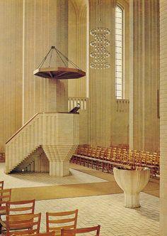 church pulpit, grundtvig church, church architectur