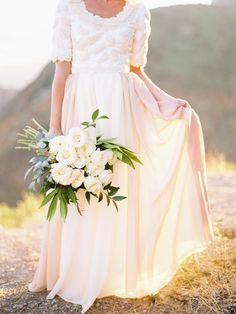 Leafy white bouquet