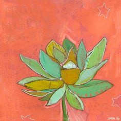 Teen Girl Wall Art Under $ 50 | Lotus Peach - available as Canvas Wall Art & Wall Decals starting at $17