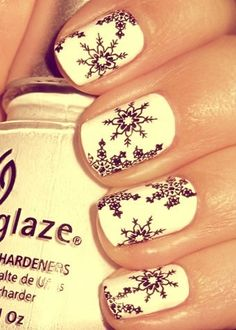 snow flake nails - love these