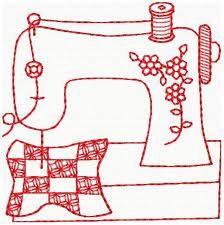 Redwork sewing machine