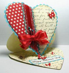 Heart Shaped Easel card