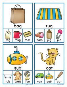 CVC RHYMING CLIP CARDS: RHYMING ACTIVITY FOR EARLY CHILDHOOD EDUCATION - TeachersPayTeachers.com