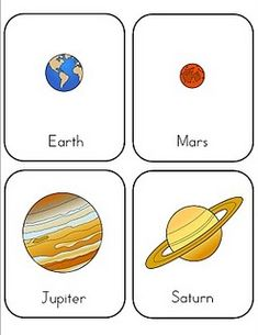 Preschool Lesson: Space. With printable flashcards, games and songs.