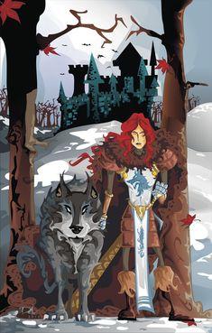 Robb Stark and Grey Wind by dejan-delic #agot #agot #asoiaf