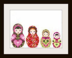 Russian Nesting Dolls Cross Stitch Pattern,Cross Stitch Pattern, Cross Stitch Pattern, Matryoshka Doll Counted Cross Stitch