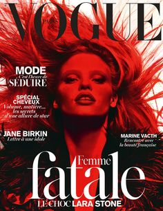 Le numéro de mars 2014 de Vogue Paris spécial femme fatale
