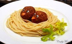 "My daughter says these should be called ""spaghetti and meat-birds"" cute idea."