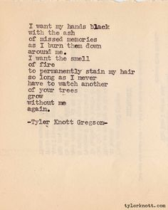 Typewriter Series #107 by Tyler Knott Gregson