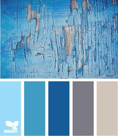 worn blues...so serene color palettes, design seeds, color schemes, worn blue, bedroom colors, laundry rooms, boy rooms, paint, colour palettes