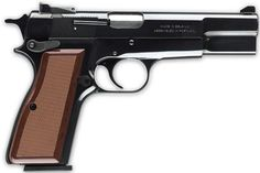 """Hi Power. Take a true classic to the range. When it was introduced early in the 20th century, the Browning Hi Power 9mm pistol was a revelation. It offered the perfect balance of handling, size and firepower, with an impressive 13-round magazine capacity. Over the years, the Hi Power has aged gracefully and continues to have a loyal following among those """"in the know."""" As reliable, accurate and easy to shoot as ever, every true firearm enthusiast should have a Hi Power in their collection."""
