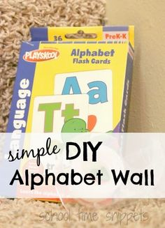 School Time Snippets: Easy DIY Alphabet Wall. Pinned by SOS Inc. Resources. Follow all our boards at pinterest.com/sostherapy/ for therapy resources.