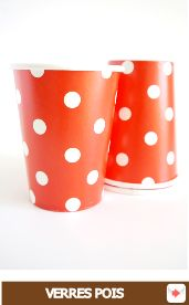 gobelets carton à pois rouge #red #rouge #circus #cirque #party #birthday #sweettables #anniversaire #partyideas