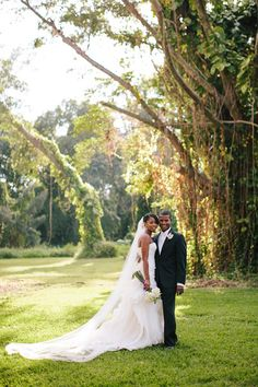 Gorgeous couple - Miami wedding at the Ancient Spanish Monastery - photos by Becca Borge | junebugweddings.com