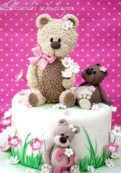 #Teddy #Bears #Cake - So beautiful! We love the bears! Gorgeous #Cake We love and had to share! Great #CakeDecorating by Alessandra Cake Designer, via Flickr