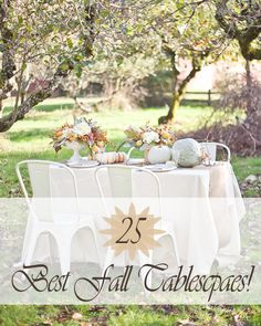 Great Fall & Thanksgiving Tablescape ideas