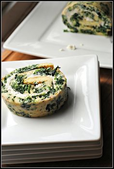 spinach & goat cheese rolled omelet