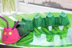6) Very Hungry Caterpillar Day egg carton craft/ activity  #WorldEricCarle  #HungryCaterpillar
