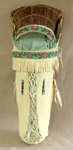 nativ american, american indian, cradle board, cradl board, bead trim, beads, american ute, ute indian, indian bead