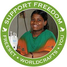 @WorldCrafts Support Freedom Stories {Freeset ~ India} Human trafficking and poverty feed India's sex trade, where women and children forced into prostitution become society's castoffs. They face a life in which they are robbed of the most basic choices. WorldCraftsSM partners with Freeset (India) as they offer women hope for a new life. #fairtrade #supportfreedom