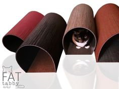 Fat Tabby Tubes Modern Cat Homes by FatTabbyDesigns. #cats