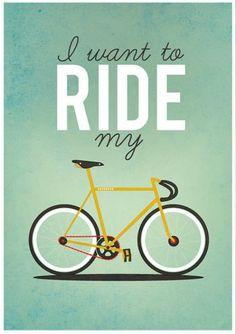 song, bike rides, queen, bicycl, poster, ride a bike, bike art, design, print