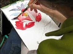 Peony Watercolor - YouTube