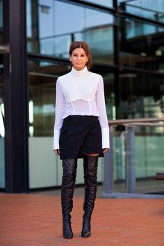 Sydney Fashion Week #streetstyle #sydyneyfashionweek #fashion #harpersbazaar #spring2012 #leather