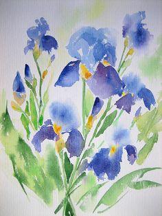 http://www.flickr.com/photos/240460/5355239405/in/photostream/lightbox/ watercolor iris, anelest watercolor, iris watercolor