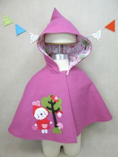Children Capelet  Wool Cape Bunny Spring Easter by ViolaStudio, $109.00