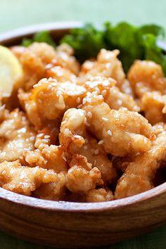 Honey Sesame Chicken from @rasamalaysia
