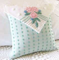 LOVE NOTE pillow cover vintage chenille