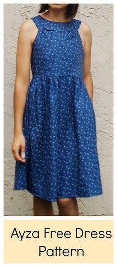 Ayza Free Dress Pattern @ On the cutting floor!