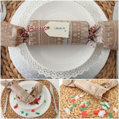DIY Tutorial: Christmas Cracker Place Settings - Boho Weddings™